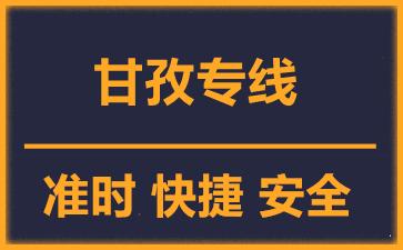 天津到甘孜物流公司