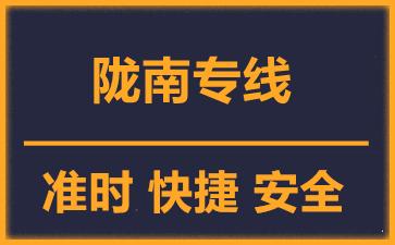 天津到陇南物流公司